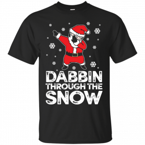 Cute Dabbing Through The Snow T-shirt Funny Santa Has Swag T-Shirt & Hoodie